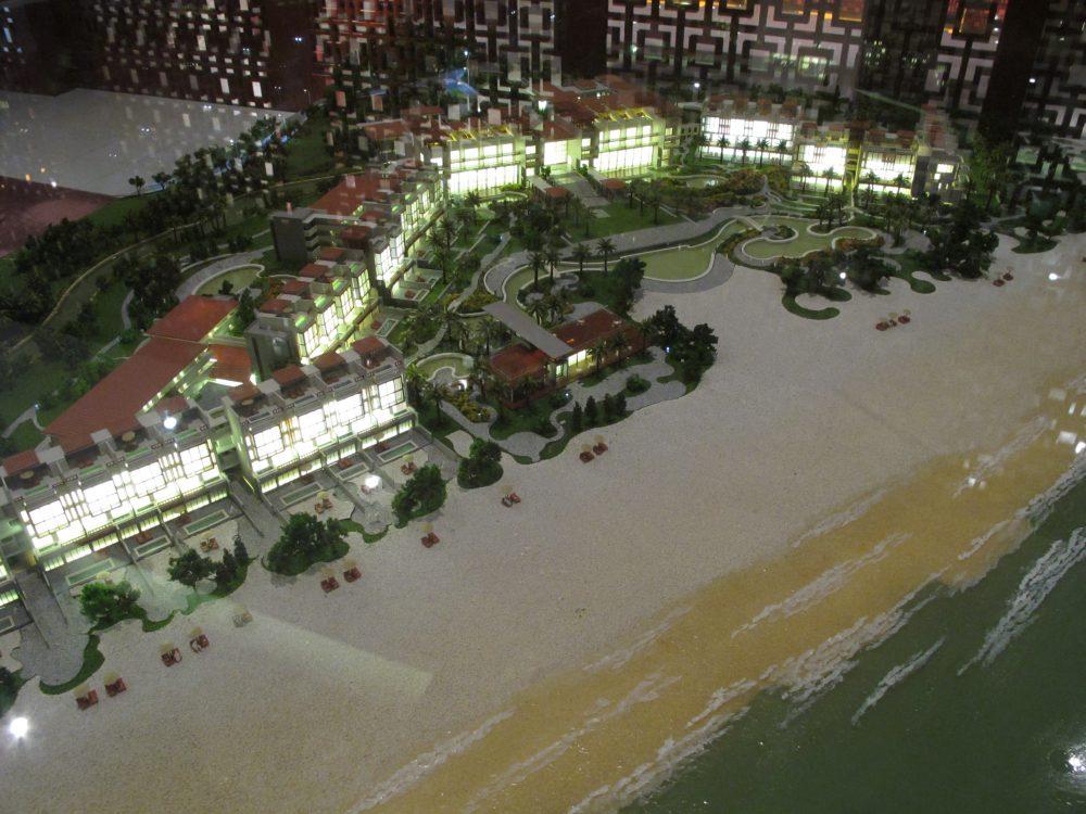 アンサナランコーホテルの模型