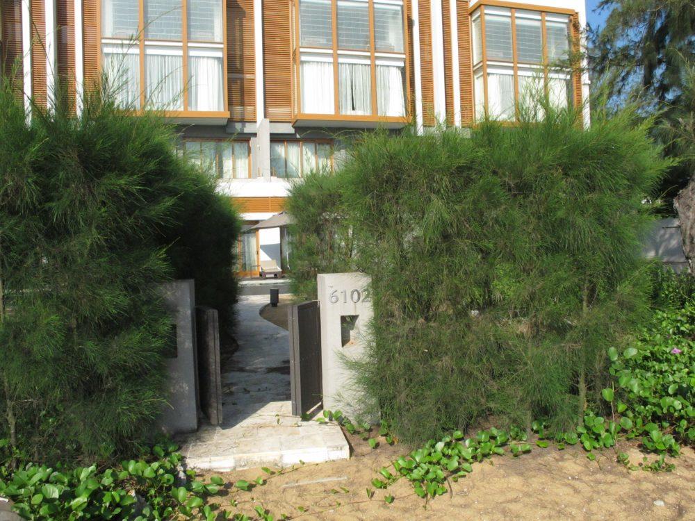 アンサナランコーの部屋の前にある入り口