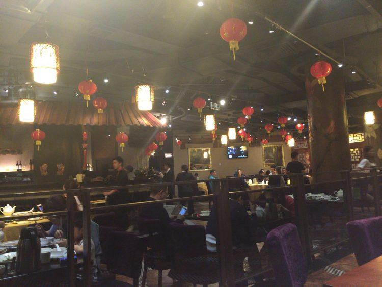 広州の街中にある中華料理店
