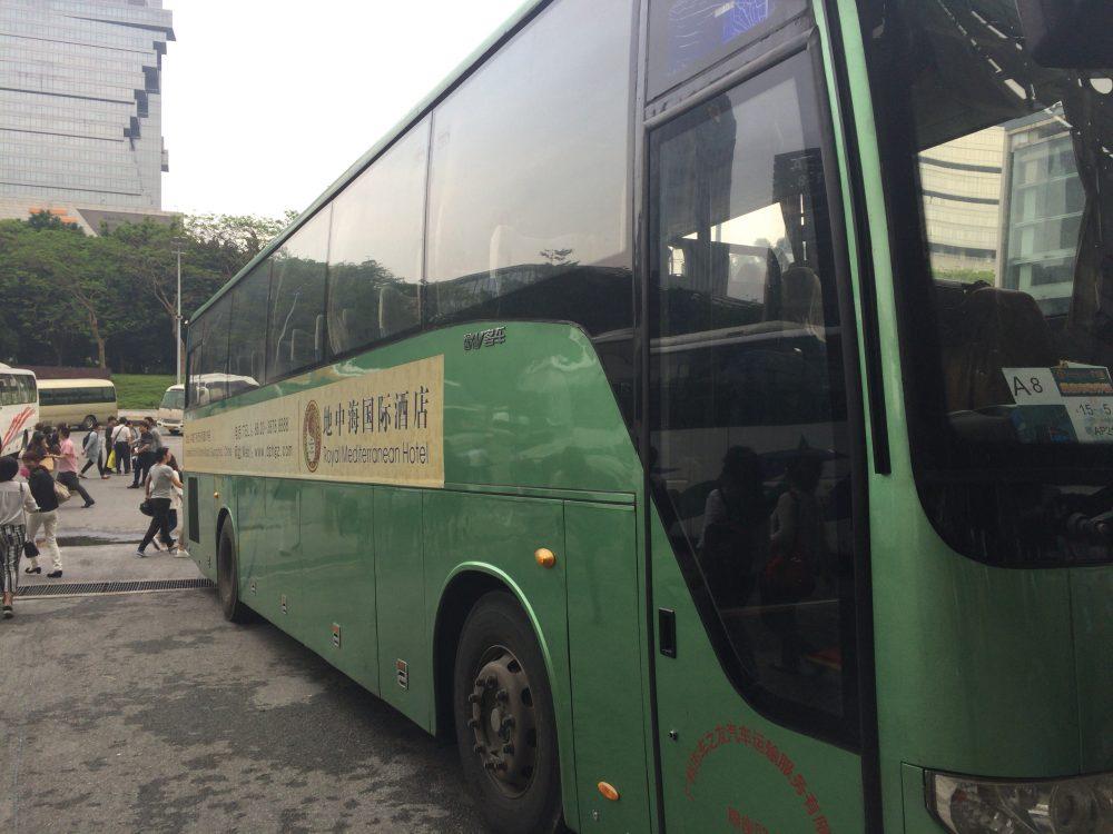 ホテルから会場への直通バス