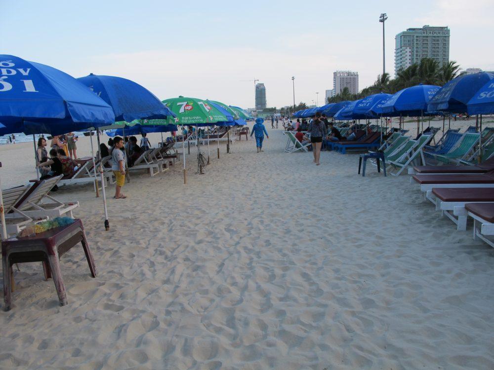 ダナンビーチの有料エリア
