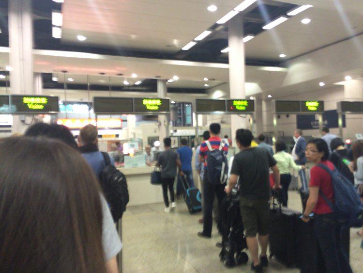 香港への入国手続き