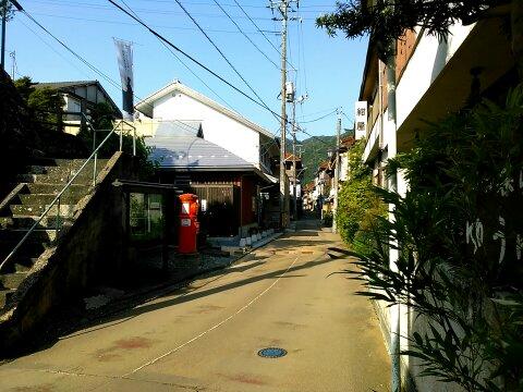 俵山の温泉街